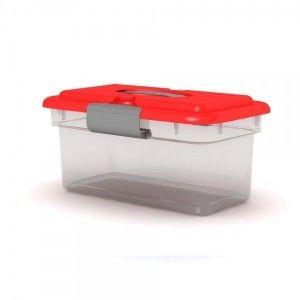 Caja Organizadora Mediana Kitty C/ Tapa y Accesorios
